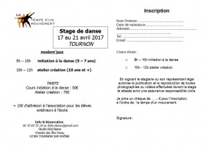 FLYER Inscription TOURNON